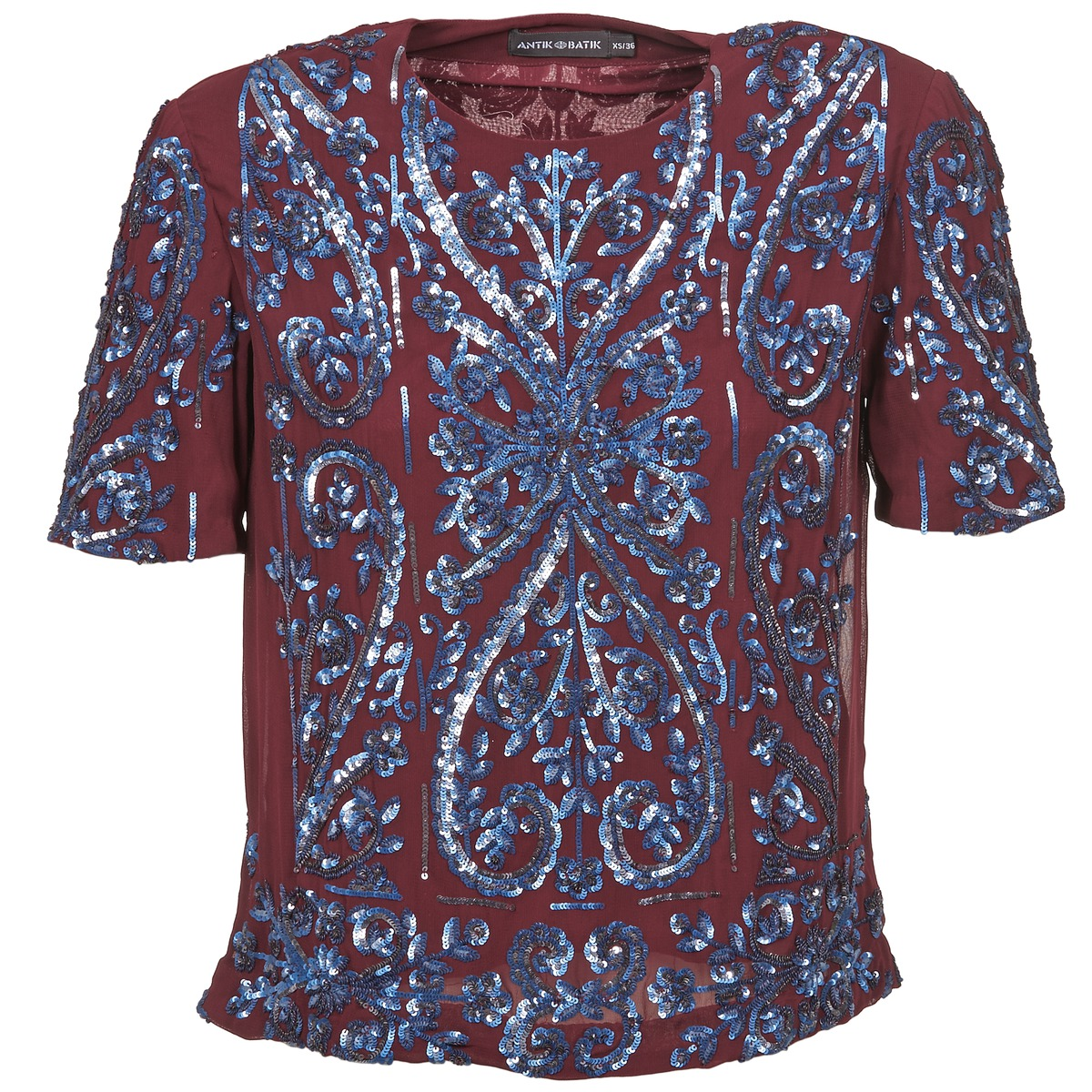 Blusar Antik Batik NIAOULI Bordeaux