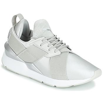 Skor Dam Sneakers Puma WN MUSE SATIN II.GRAY Grå