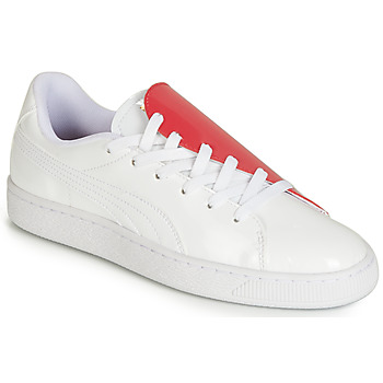 Skor Dam Sneakers Puma WN BASKET CRUSH.WH-HIBISCU Vit