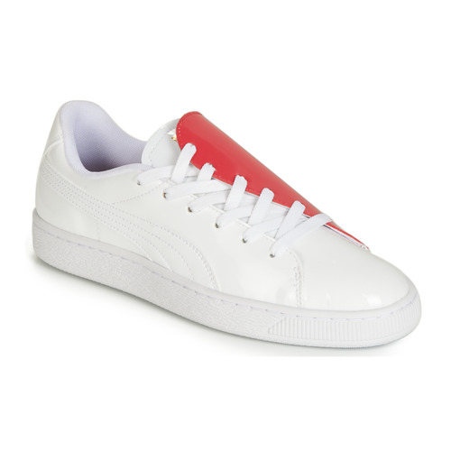 Skor Dam Sneakers Puma WN BASKET CRUSH.WH-HIBISCU Vit