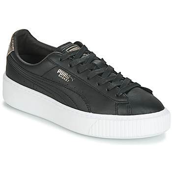 Skor Dam Sneakers Puma WN SUEDE PLATFM OPULENT.BL Svart