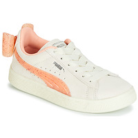 Skor Flickor Sneakers Puma PS SUEDE BOW JELLY AC.WHIS Beige