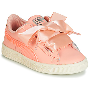 Skor Flickor Sneakers Puma PS BASKET HEART JELLY.PEAC Rosa