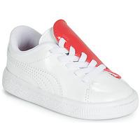 Skor Flickor Sneakers Puma INF B CRUSH PATENT AC.W-H Vit