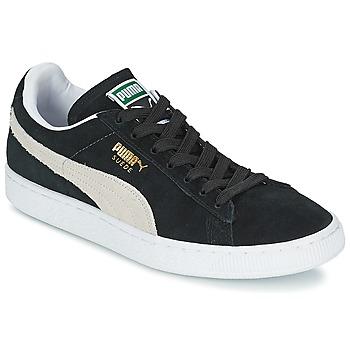 Skor Sneakers Puma SUEDE CLASSIC Svart / Vit