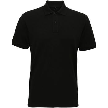 textil Herr Kortärmade pikétröjor Asquith & Fox AQ005 Svart