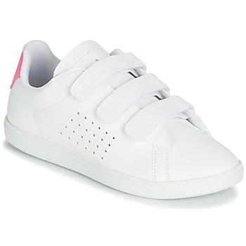 Skor Flickor Sneakers Le Coq Sportif COURTSET PS Vit / Rosa