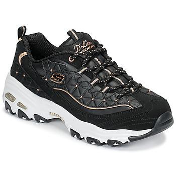 Skor Dam Sneakers Skechers D'LITES GLAMOUR FEELS Svart