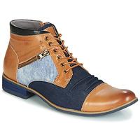Skor Herr Boots Kdopa ALMERIA Kamel / Blå
