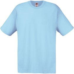textil Herr T-shirts Fruit Of The Loom SS12 Sky