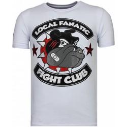 textil Herr T-shirts Local Fanatic Fight Club Spike Rhinestone W Vit