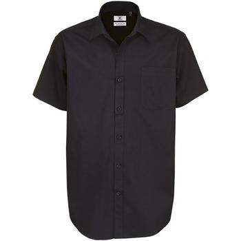 textil Herr Kortärmade skjortor B And C Sharp Svart
