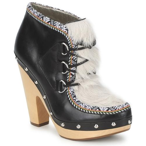 Skor Dam Boots Belle by Sigerson Morrison BLACKA Beige / Svart