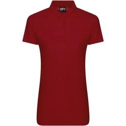 textil Dam Kortärmade pikétröjor Pro Rtx RX05F Röd