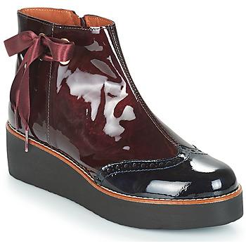 Skor Dam Boots Fericelli JANDICI Bordeaux