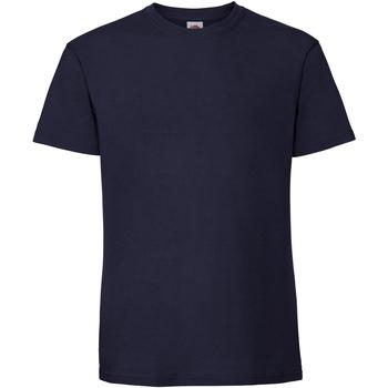 textil Herr T-shirts Fruit Of The Loom 61422 Marinblått