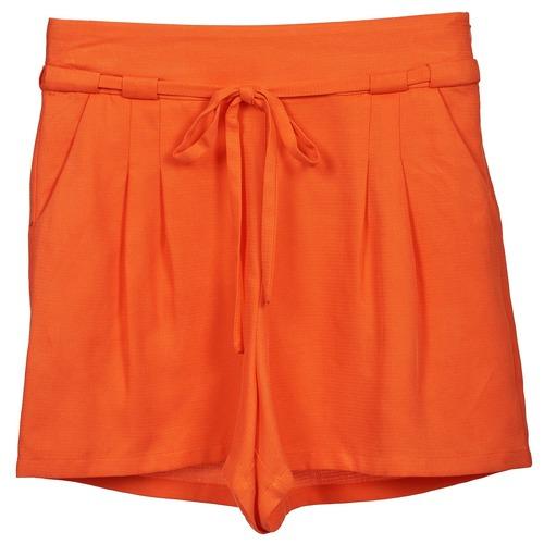 Naf Naf KUIPI Orange - Fri frakt hos Spartoo.se ! - textil Shorts ... 02ef83575cf55