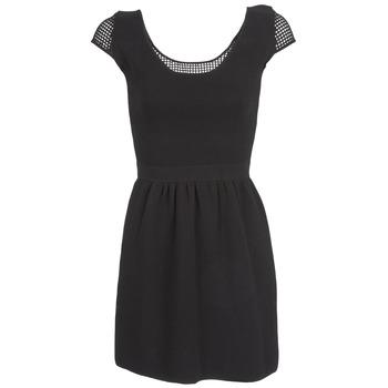 textil Dam Korta klänningar Naf Naf MANGUILLA Svart