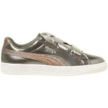 Skor Barn Sneakers Puma Basket Heart Lunar Lux JR Silver
