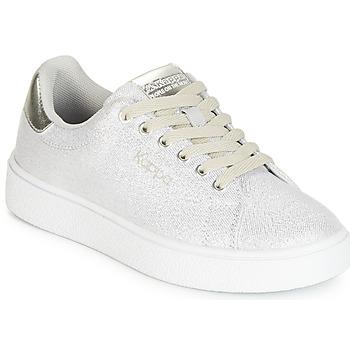 Skor Flickor Sneakers Kappa SAN REMO KID Vit / Silver