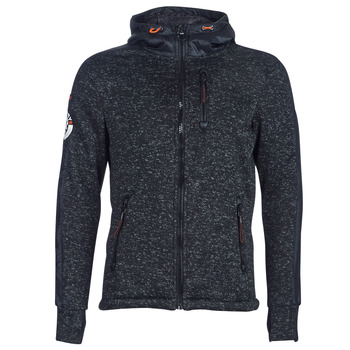 textil Herr Sweatshirts Superdry STORM INTERNATIONAL ZIPHOOD Svart