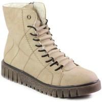 Skor Dam Boots Rieker Y342060 Beige