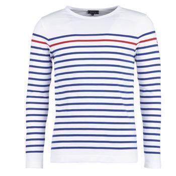 textil Herr Långärmade T-shirts Armor Lux YAYAYOUT Vit / Blå / Röd