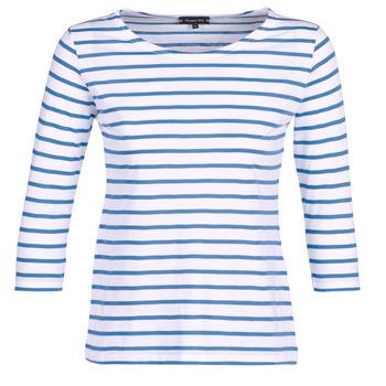 textil Dam Långärmade T-shirts Armor Lux YAYAROULE Vit / Blå