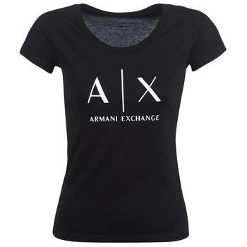 textil Dam T-shirts Armani Exchange HELBATANTE Svart