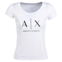 textil Dam T-shirts Armani Exchange HELIAK Vit