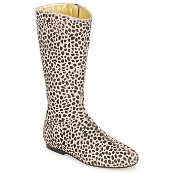 Skor Dam Stövlar French Sole PATCH Leopard