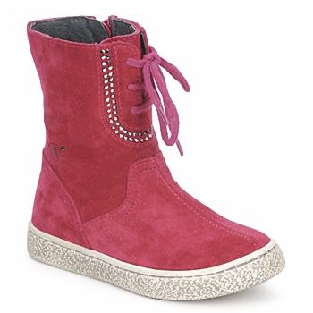 Skor Flickor Boots Naturino VELOUR Hallon