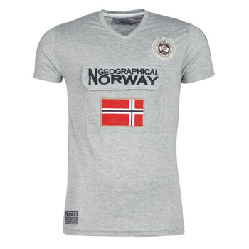 textil Herr T-shirts Geographical Norway JAYFOUR Grå