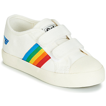 Skor Barn Sneakers Gola COASTER RAINBOW VELCRO Vit
