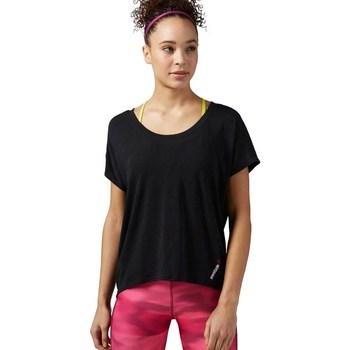 textil Dam T-shirts Reebok Sport One Series Burnout Svarta