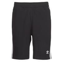 textil Herr Shorts / Bermudas adidas Originals 3 STRIPE SHORT Svart