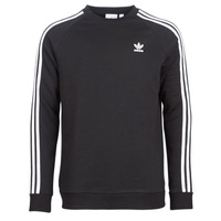 textil Herr Sweatshirts adidas Originals 3 STRIPES CREW Svart
