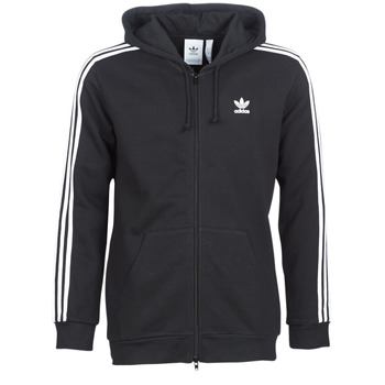 textil Herr Sweatshirts adidas Originals 3 STRIPES FZ Svart