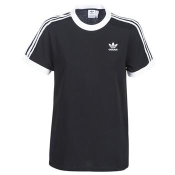 textil Dam T-shirts adidas Originals 3 STRIPES TEE Svart