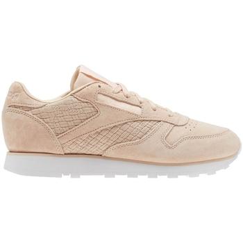 Skor Dam Sneakers Reebok Sport CL Lthr Woven Emb Beige,Rosa