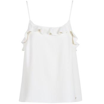 textil Dam Linnen / Ärmlösa T-shirts Les Petites Bombes AZITAFE Vit