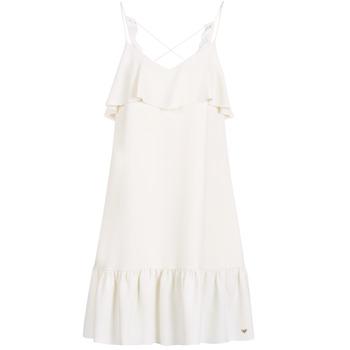 textil Dam Korta klänningar Les Petites Bombes AZITARBE Vit