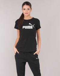 textil Dam T-shirts Puma PERMA ESS TEE Svart