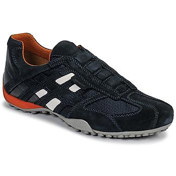 Skor Herr Sneakers Geox UOMO SNAKE Blå / Svart