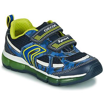 Skor Pojkar Sneakers Geox J ANDROID BOY Marin / Gul / Led