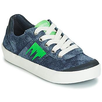 Skor Pojkar Sneakers Geox J KILWI BOY Blå / Grön