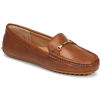 Skor Dam Loafers Lauren Ralph Lauren BRIONY Cognac