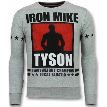 textil Herr Sweatshirts Local Fanatic Mike Tyson Iron Tjock G Grå