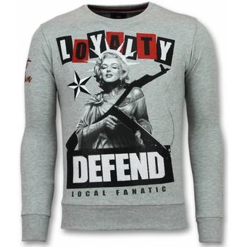 textil Herr Sweatshirts Local Fanatic Loyalty Marilyn Monroe G Grå