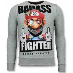 textil Herr Sweatshirts Local Fanatic Mario Fight Club G Grå